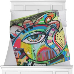 Abstract Eye Painting Minky Blanket