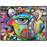 Abstract Eye Painting Door Mat