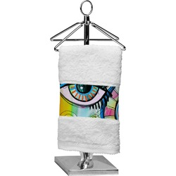 Abstract Eye Painting Cotton Finger Tip Towel