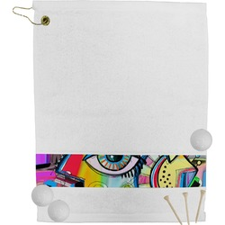 Abstract Eye Painting Golf Towel