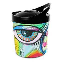 Abstract Eye Painting Plastic Ice Bucket