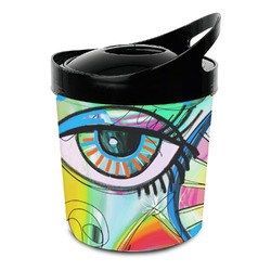 Abstract Eye Painting Plastic Ice Bucket