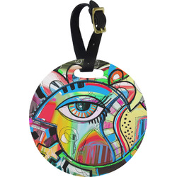 Abstract Eye Painting Round Luggage Tag