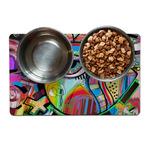 Abstract Eye Painting Pet Bowl Mat