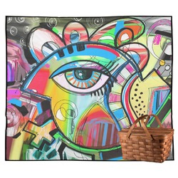 Abstract Eye Painting Outdoor Picnic Blanket