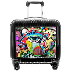 Abstract Eye Painting Pilot / Flight Suitcase
