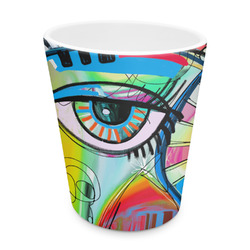 Abstract Eye Painting Plastic Tumbler 6oz