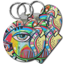 Abstract Eye Painting Plastic Keychains