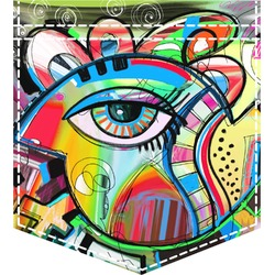 Abstract Eye Painting Iron On Faux Pocket