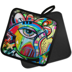 Abstract Eye Painting Pot Holder