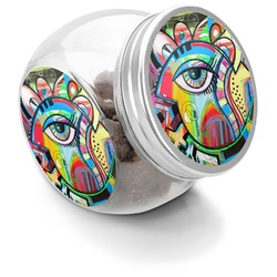 Abstract Eye Painting Puppy Treat Jar