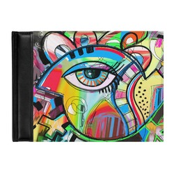 Abstract Eye Painting Genuine Leather Guest Book