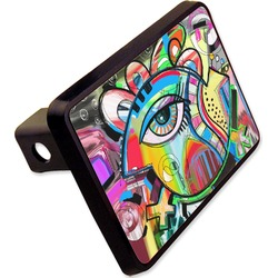"""Abstract Eye Painting Rectangular Trailer Hitch Cover - 2"""""""