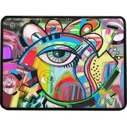 """Abstract Eye Painting Rectangular Trailer Hitch Cover - 1.25"""""""