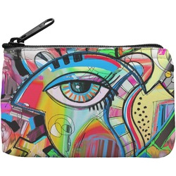 Abstract Eye Painting Rectangular Coin Purse