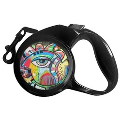 Abstract Eye Painting Retractable Dog Leash - Multiple Sizes