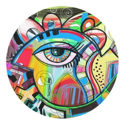 Abstract Eye Painting Round Decal