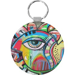 Abstract Eye Painting Round Keychain