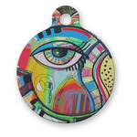 Abstract Eye Painting Round Pet Tag