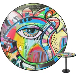 Abstract Eye Painting Round Table
