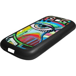 Abstract Eye Painting Rubber Samsung Galaxy 3 Phone Case