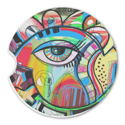 Abstract Eye Painting Sandstone Car Coasters
