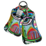 Abstract Eye Painting Hand Sanitizer & Keychain Holder