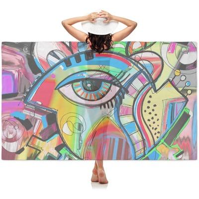 Abstract Eye Painting Sheer Sarong