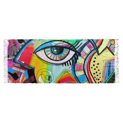 Abstract Eye Painting Faux Pashmina Scarf