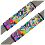 Abstract Eye Painting Seat Belt Covers (Set of 2)