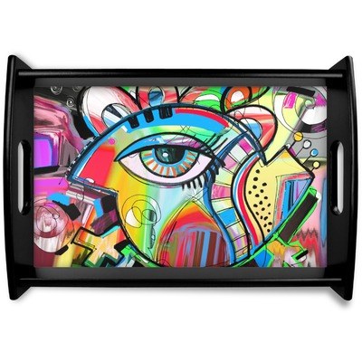 Abstract Eye Painting Wooden Trays