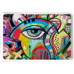 Abstract Eye Painting Serving Tray