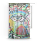 Abstract Eye Painting Sheer Curtains