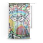 Abstract Eye Painting Sheer Curtains