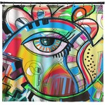 Abstract Eye Painting Shower Curtain