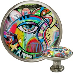 Abstract Eye Painting Cabinet Knobs