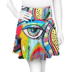 Abstract Eye Painting Skater Skirt