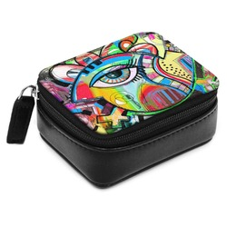 Abstract Eye Painting Small Leatherette Travel Pill Case