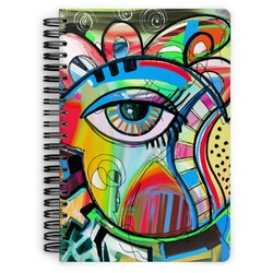 Abstract Eye Painting Spiral Bound Notebook