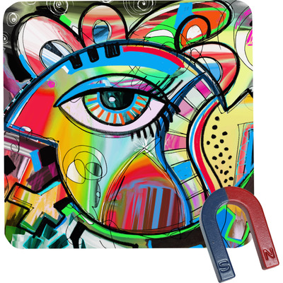 Abstract Eye Painting Square Fridge Magnet