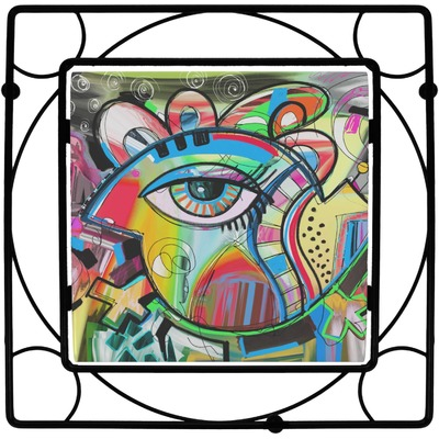 Abstract Eye Painting Trivet