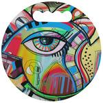 Abstract Eye Painting Stadium Cushion (Round)