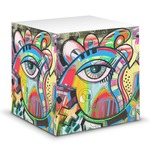 Abstract Eye Painting Sticky Note Cube