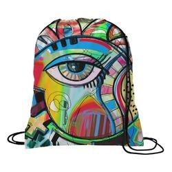 Abstract Eye Painting Drawstring Backpack