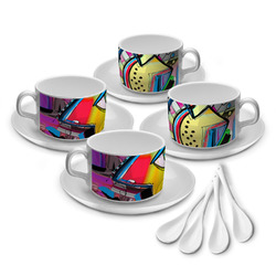 Abstract Eye Painting Tea Cup - Set of 4