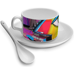 Abstract Eye Painting Tea Cups