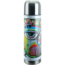 Abstract Eye Painting Stainless Steel Thermos