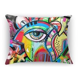 Abstract Eye Painting Rectangular Throw Pillow Case