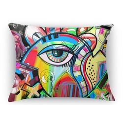 Abstract Eye Painting Rectangular Throw Pillow Case