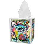 Abstract Eye Painting Tissue Box Cover